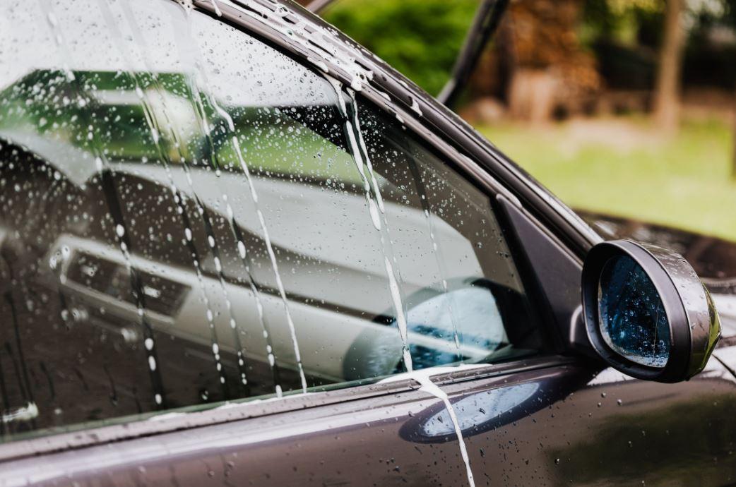 Saubere Autoscheibe